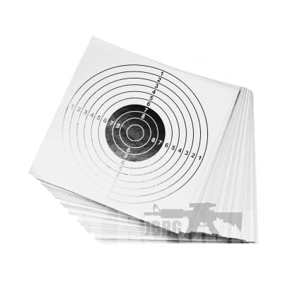 100 Card Targets White