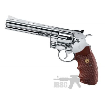 Colt Python Revolver Nickel Steel BB