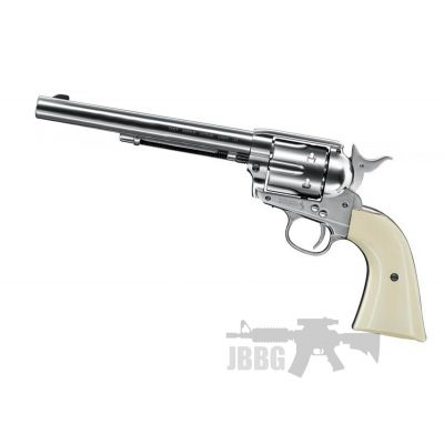 Colt SAA .45 CO2 Nickel Pearl EXT Revolver 4.5