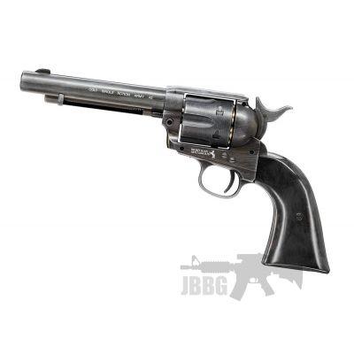 Colt SAA .45 CO2 Antiqued Black Revolver 4.5