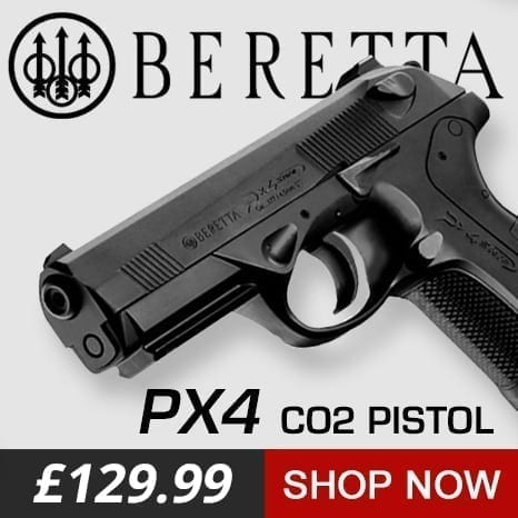 Beretta px4 co2 air pistol at just air guns