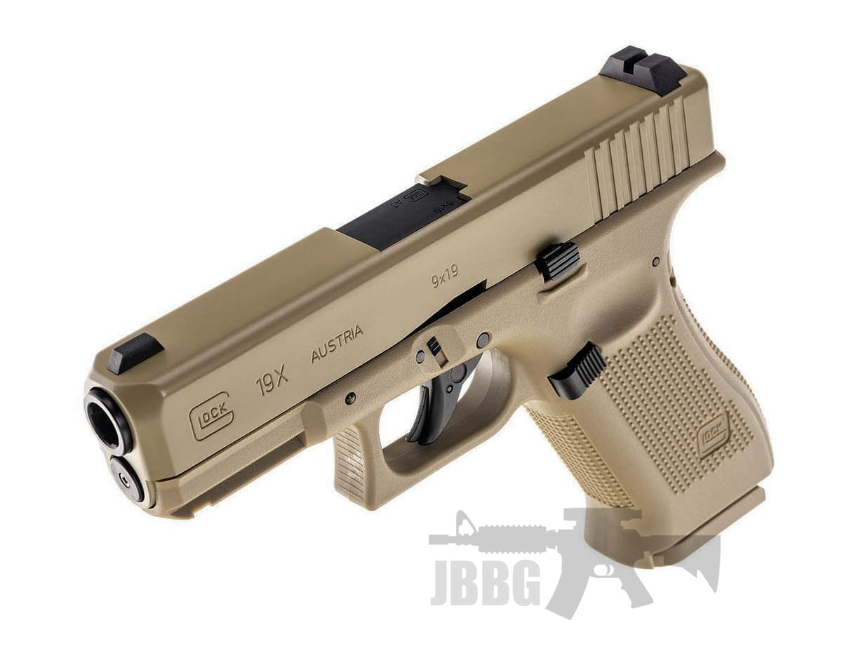 Glock 19X Tan CO2 Pistol with Blowback