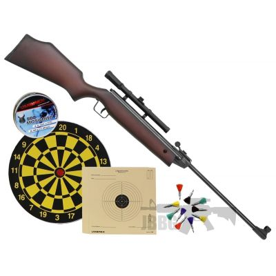 wooden air rifle with scope