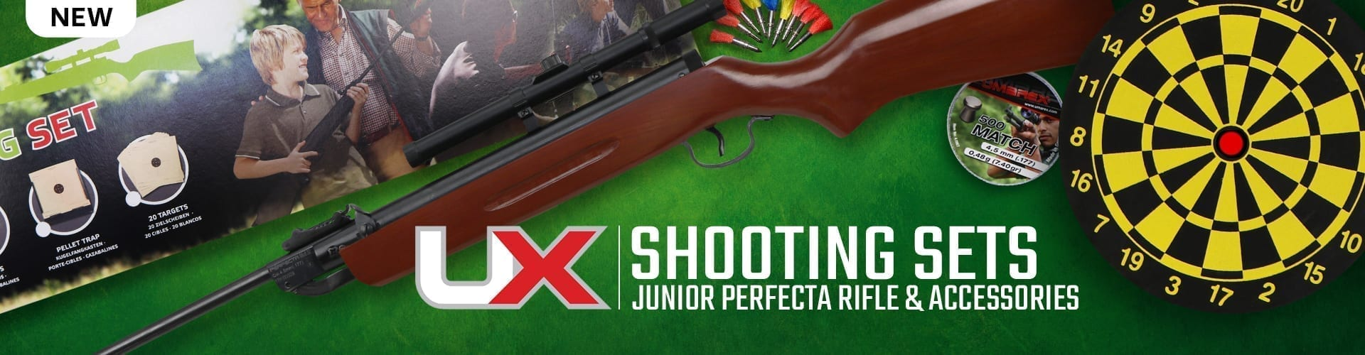 Junior air rifle set