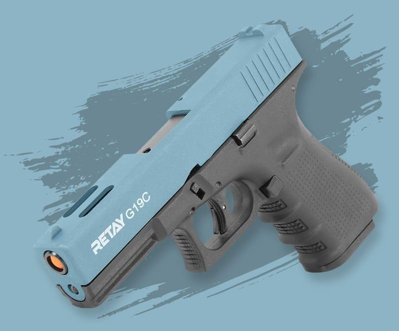 blank firing pistols at just air guns