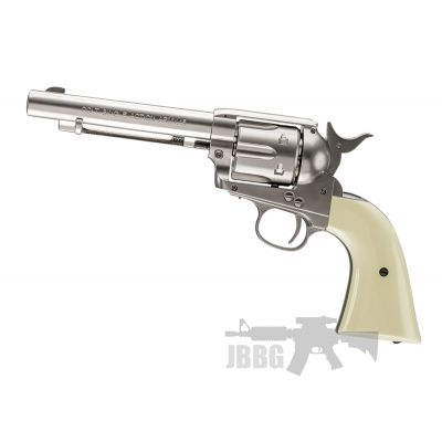 Colt SAA .45 Nickel & Pearl Single Action Army 4.5 BB