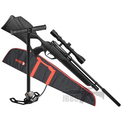 Gamo Phox Air Rifle Pack with Silencer, Scope, Pump and Bag .177