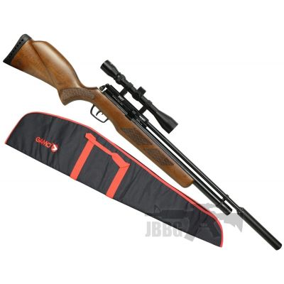 Gamo Coyote Air Rifle Pack with Silencer, Scope and Bag .177