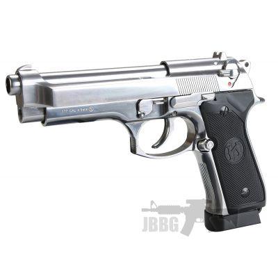 KL M92 Co2 Polished Chrome Blowback Air Pistol