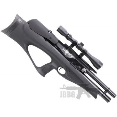 AirArms Galahad Carbine PCP Soft-Touch Black Air Rifle .177